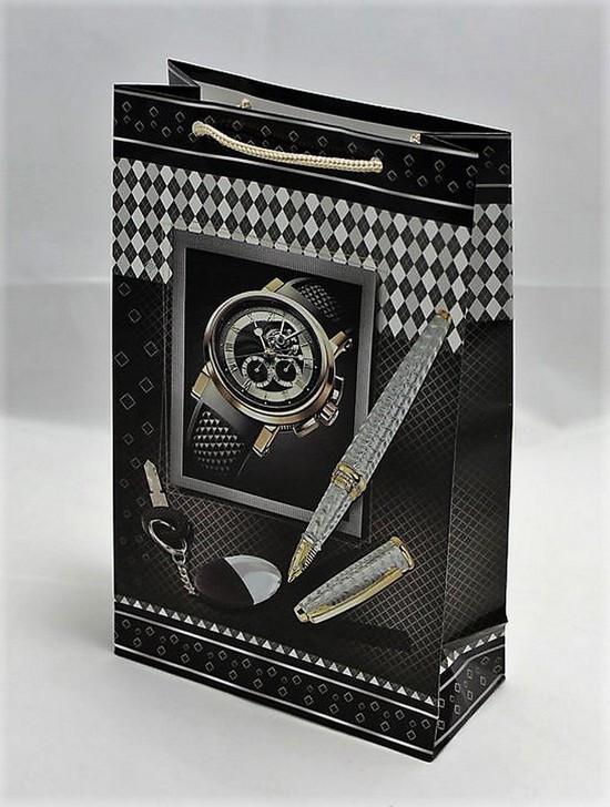 Пакет подарунковий бум. мелованый 8*12*4 UNISON