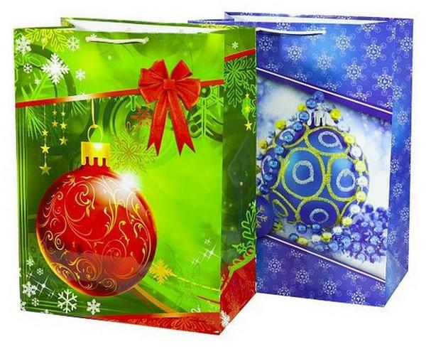 Пакет новогодний широкое дно 30*40*17