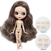 Кукла Айси с коричневыми волосами без челки (матовое лицо) сестра Блайз на теле азон ICY doll, фото 1