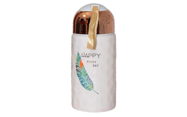 Чашка керамічна в формі термоса HAPPY 240 мл