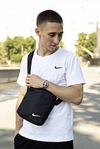 Чоловіча барсетка Nike ( чорна ) з білим логотипом