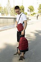 Комплект TWIX рюкзак Nike червоний меланж + барсетка Nike червоний меланж
