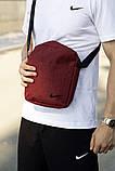 Комплект TWIX рюкзак Nike червоний меланж + барсетка Nike червоний меланж, фото 3