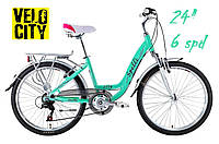Велосипед Spelli CITY 24 (6 spd) зеленый, фото 1