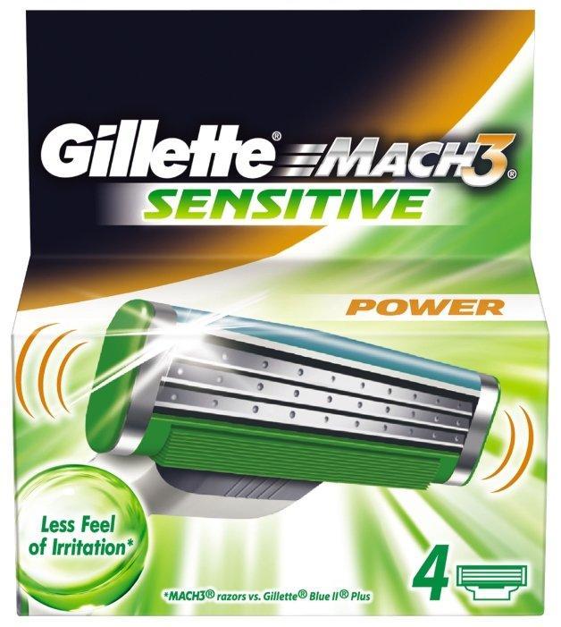 Gilette Mach3 Sensitive Power 8 шт. в упаковке, Германия, сменные кассеты для бритья
