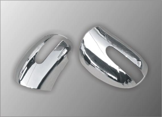 Накладки на зеркала (2 шт, нерж.) для Mercedes ML W163