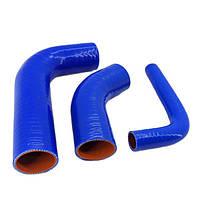 Комплект патрубків радіатора, термостата МТЗ-80, МТЗ-82, МТЗ-892 (синій силікон), фото 1