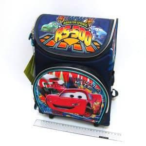 """Рюкзак коробка для хлопчика """"Тачки"""" 35х25х13см Ортопедична спинка, світловідбиваючі елементи"""