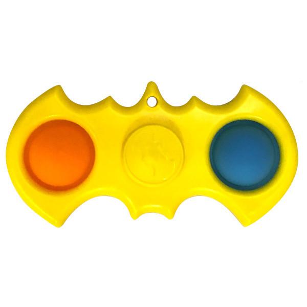 Simple Dimple Антистрес Іграшка Сімпл Дмимпл - Pop It - Поп Іт - Попит - Popit) - Жовтий Спиннер Бетмен - 2