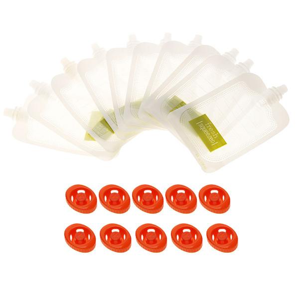 Опт 10 одноразовых дой-пак пакетов для станции расфасовки детского питания Squeeze Station