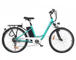 """Электрический велосипед Maxxter CITY 26"""" (светло синий)"""