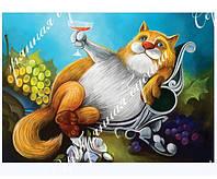 """Схема для вышивки бисером с кошкой """"Тост"""", фото 1"""