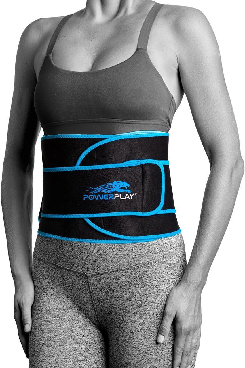 Пояс для схуднення PowerPlay 4303 Чорно-Синій SKL24-277363