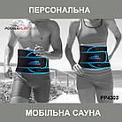 Пояс для схуднення PowerPlay 4303 Чорно-Синій SKL24-277363, фото 3