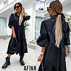 Женское котоновое платье черное миди SKL11-289440, фото 2