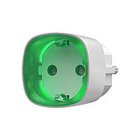 Радіокерована розумна розетка з лічильником енергоспоживання Ajax Socket біла