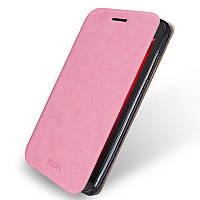 Кожаный чехол книжка Mofi для Asus Zenfone GO ZC500TG розовый