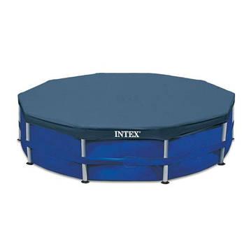 Тент для каркасного круглого басейну 305 см Чохол для басейну Intex Тент для круглого басейну від сміття