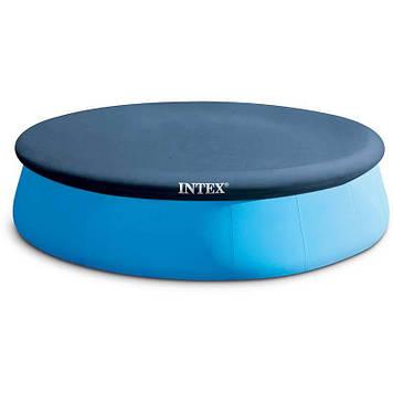 Тент-чохол для круглих наливних басейнів Intex Чохол для круглого басейну діаметр 366 см Тент для басейну