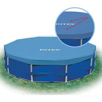 Тент для каркасного круглого басейну 366 см Чохол для круглого басейну Intex Тент для круглого басейну