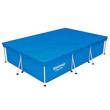 Чохол для каркасного басейну Тент з ПВХ для прямокутного каркасного басейну Bestway розмір 300х201 см