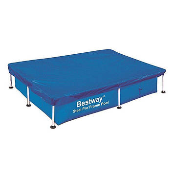 Тент для каркасного басейну Чохол для захисту каркасного басейну від пилу і бруду розмір 400х211 см синій