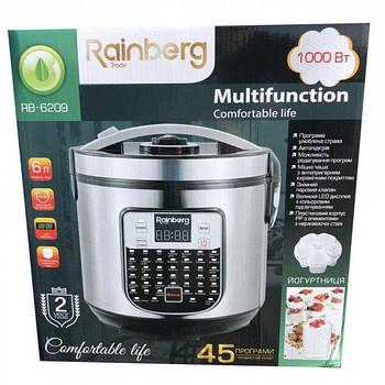 Мультиварка Rainberg RB-6209 пароварка рисоварка йогуртница бытовая 45 программ 6 л 1000 W