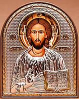 Икона Спаситель серебряная Silver Axion (Греция) 85 х 105 мм