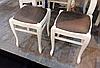 Табурет деревянный мягкий Гармония - 33 , цвет белый / Fusion Furniture