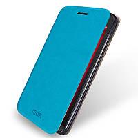 Кожаный чехол книжка Mofi для Asus Zenfone GO ZC500TG голубой
