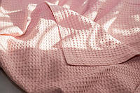Вафельный плед-пике Комильфо хлопок 200х220 розовый K556
