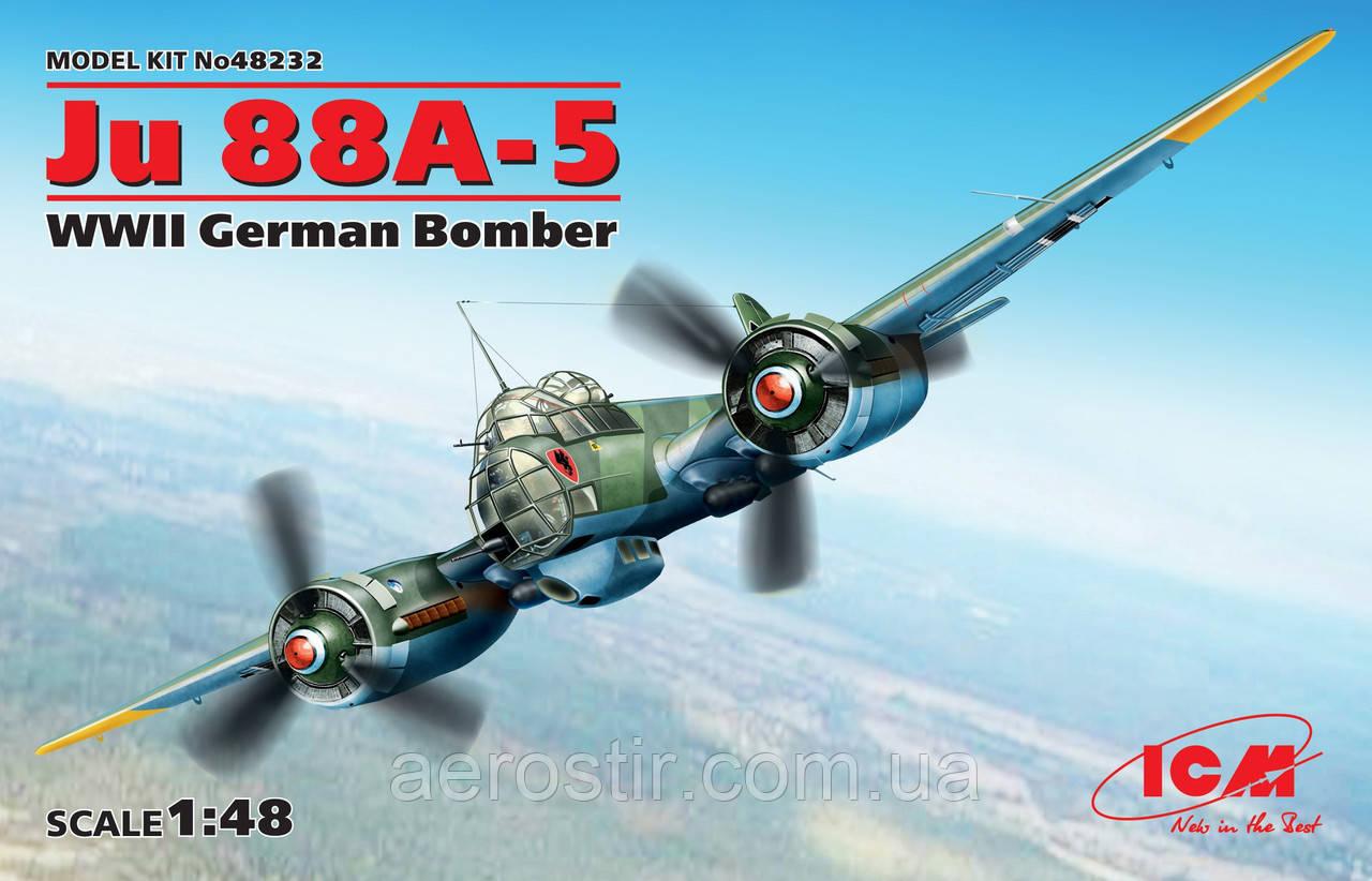 Ju 88A-5 немецкий бомбардировщик ICM 1:48