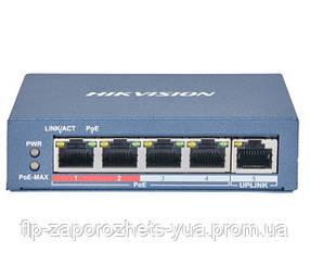 DS-3E0105P-E(B) 4-портовий некерований POE комутатор Hikvision