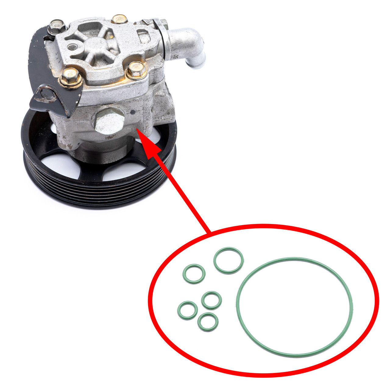 Ремкомплект насоса гідропідсилювача рульового управління для Volvo 4.4 L V8 XC90 S80 2005-2011 P30741375