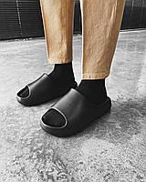 Мужские шлёпанцы сланцы тапочки для мужчин черные Турция