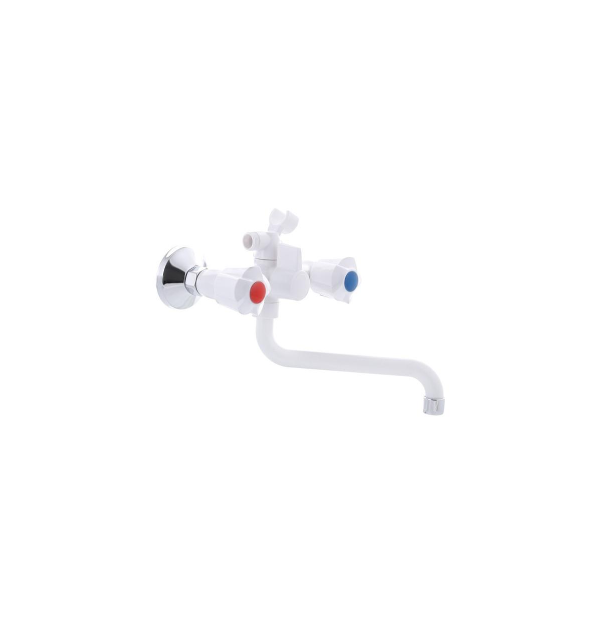 Смеситель для ванны PLAMIX AMA-142 White