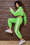 Костюм спортивний жіночий вільний (3 кольори, р. S-M UNI), фото 10