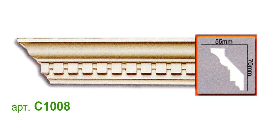 Карниз Gaudi C1008 (70x55)мм