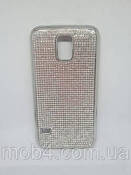 Силиконовый чехол накладка Камни Стразы для Samsung Galaxy S5