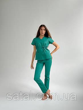 "Медицинский костюм ""Микато"". Зелень. Рукав короткий. ТМ Сатал, фото 2"