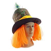 Капелюх Божевільного Капелюшника з перукою, фото 1