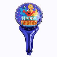 Кулька з надувний ручкою Happy Birthday (мапет), фото 1