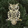 Прикраса Сова пластик 12х9см (золото)