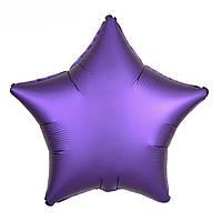 Шарик (45см) Звезда фиолетовый матовый, фото 1