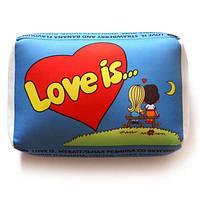 Подушка love (синя)