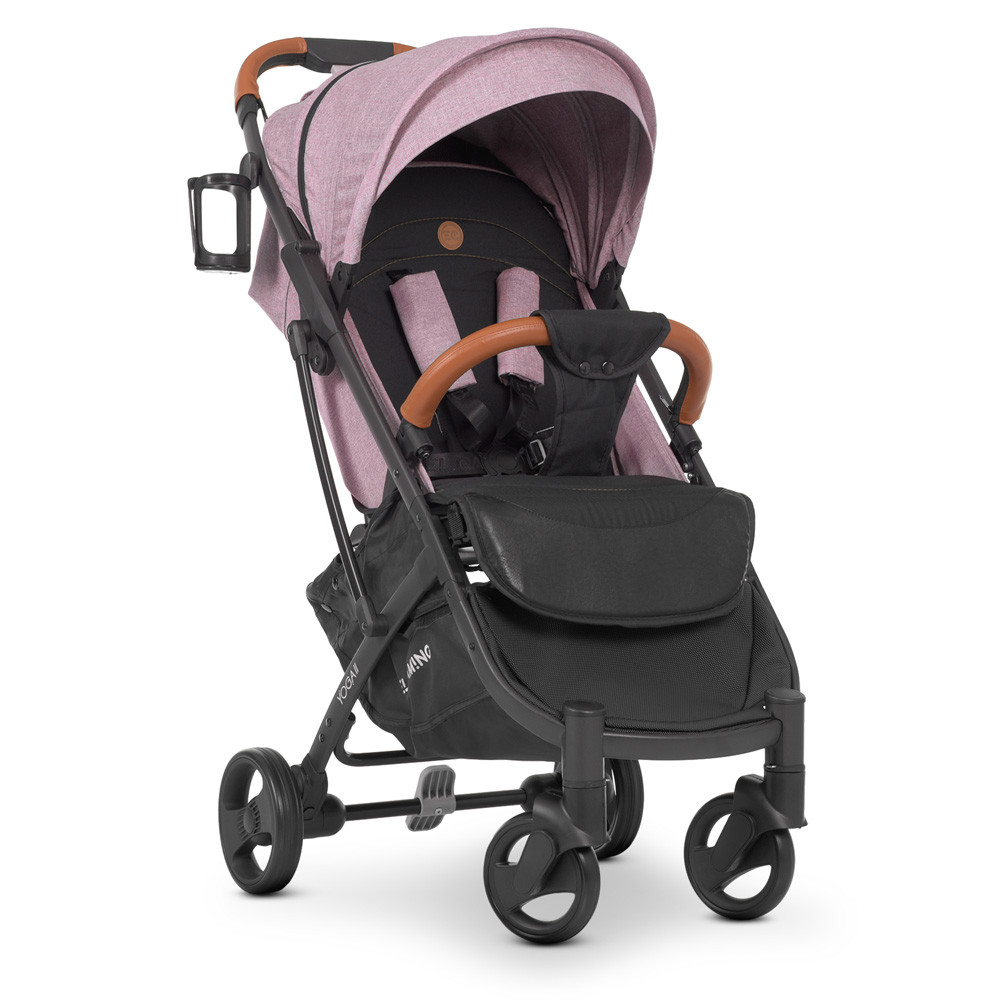 Прогулочная коляска El Camino M 3910 YOGA II v.2 Denim Ash Pink / рама алюминий / розовая**