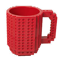 Кружка Лего конструктор (червона)