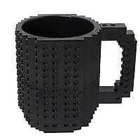 Кружка Лего конструктор (чорна)