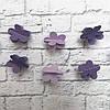 Гірлянда паперова 3D Квіти (фіалковий)