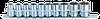 Набор торцевых 6-гр головок (10-24) на планшетке (10 предм)
